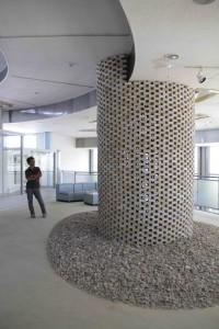 「BIBLIOTECA-図書館」は土庄港フェリーターミナル2Fに展示